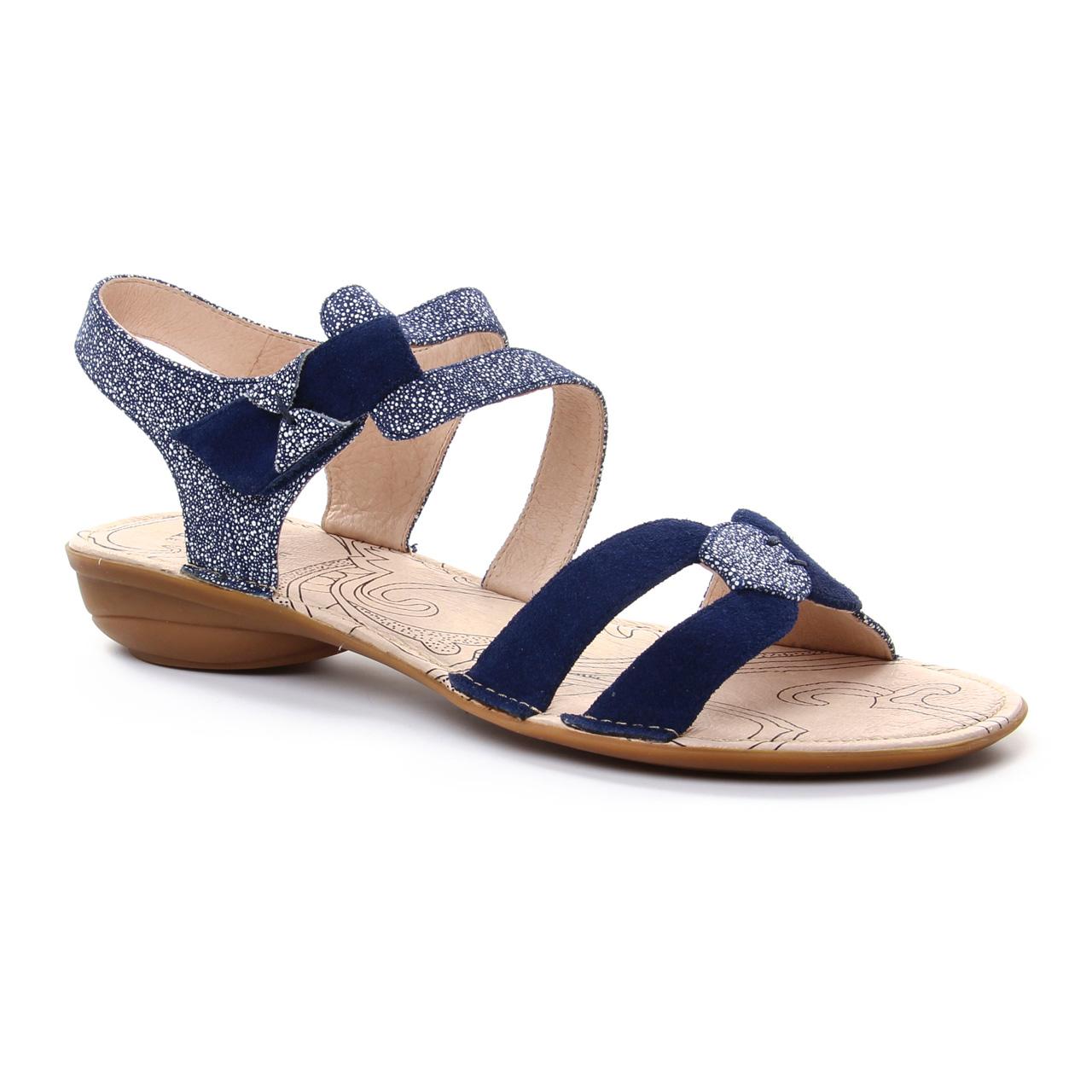 0a655f77602 sandales bleu marine mode femme printemps été vue 1