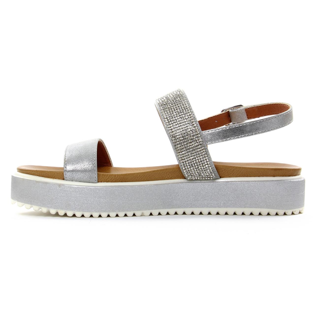 ecd519905a7 sandales compensées gris argent mode femme printemps été vue 3