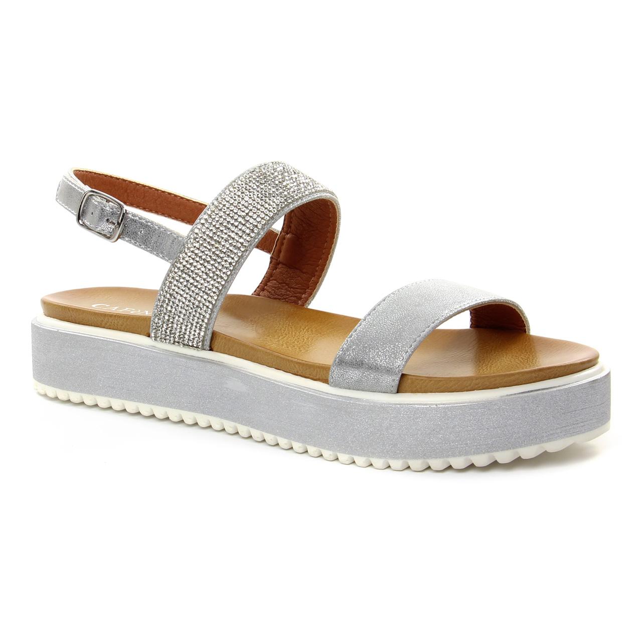 Cafe Noir Gh 907 Argent   sandale compensées gris argent printemps ... 516eae79e9a