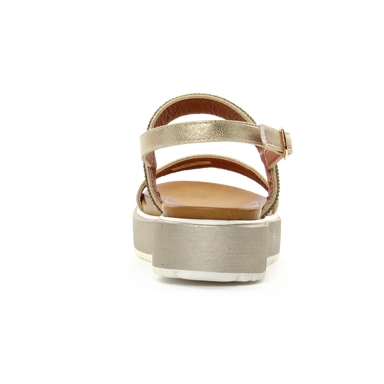 099ad0e67227b1 Cafe Noir Gh 907 Platine | sandale compensées marron doré printemps ...