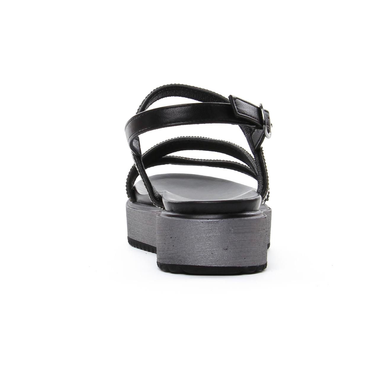 Cafe noir printemps été chez sandale Noir 906 Noir Gh compensées Y1raTnY