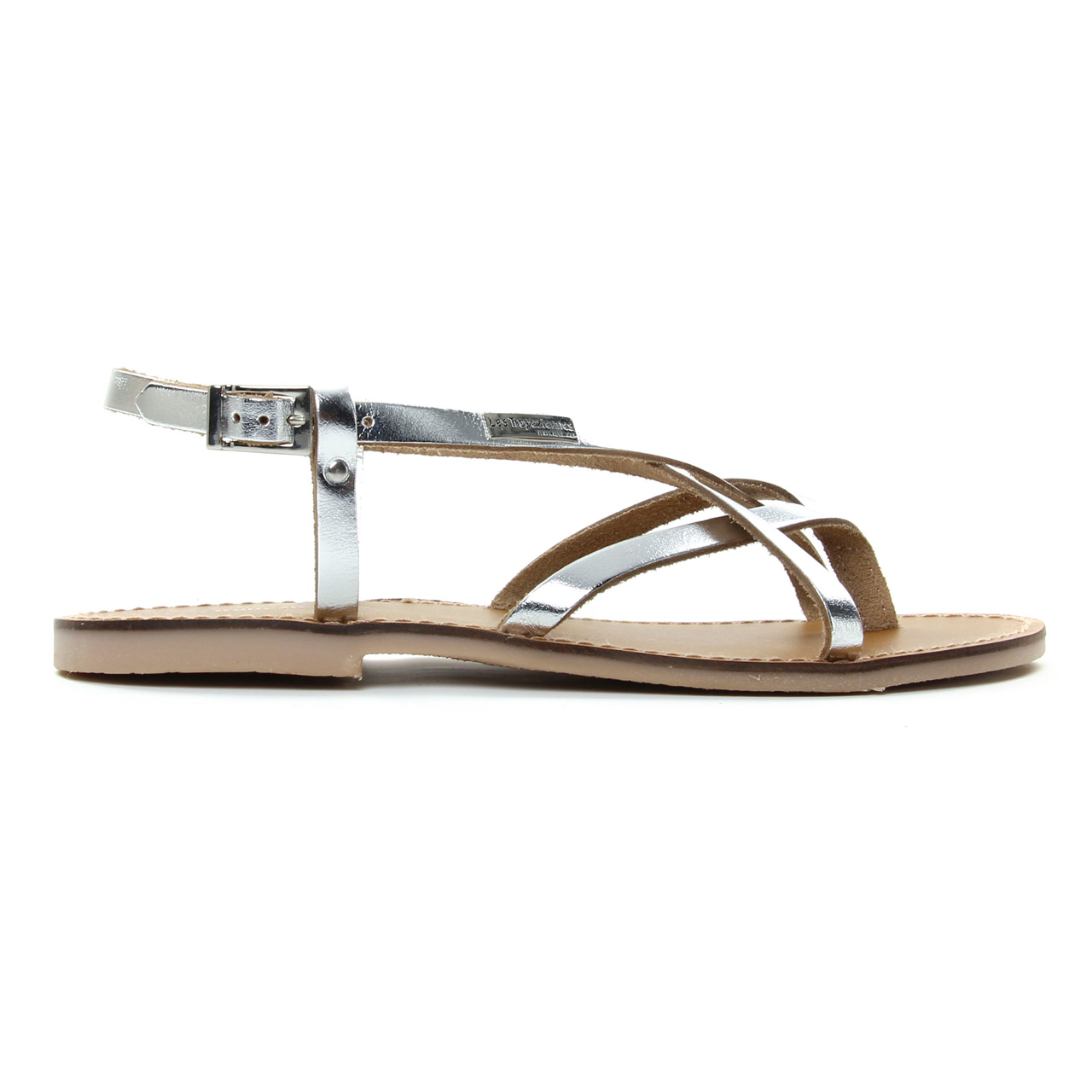4655a950135f sandales gris argent mode femme printemps été vue 2