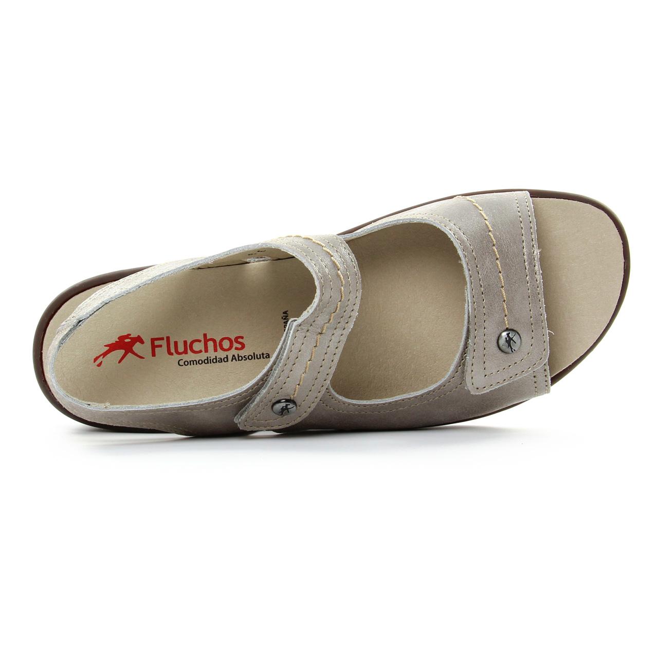 code promo 6480a 6858c Fluchos 8629 Argent | sandales marron argent printemps été ...