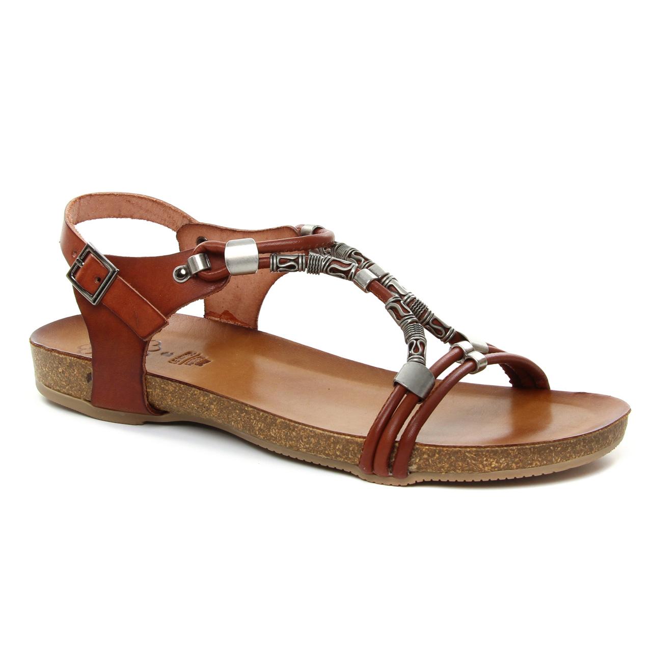 Porronet Fi111 Cuero | sandales marron printemps été chez
