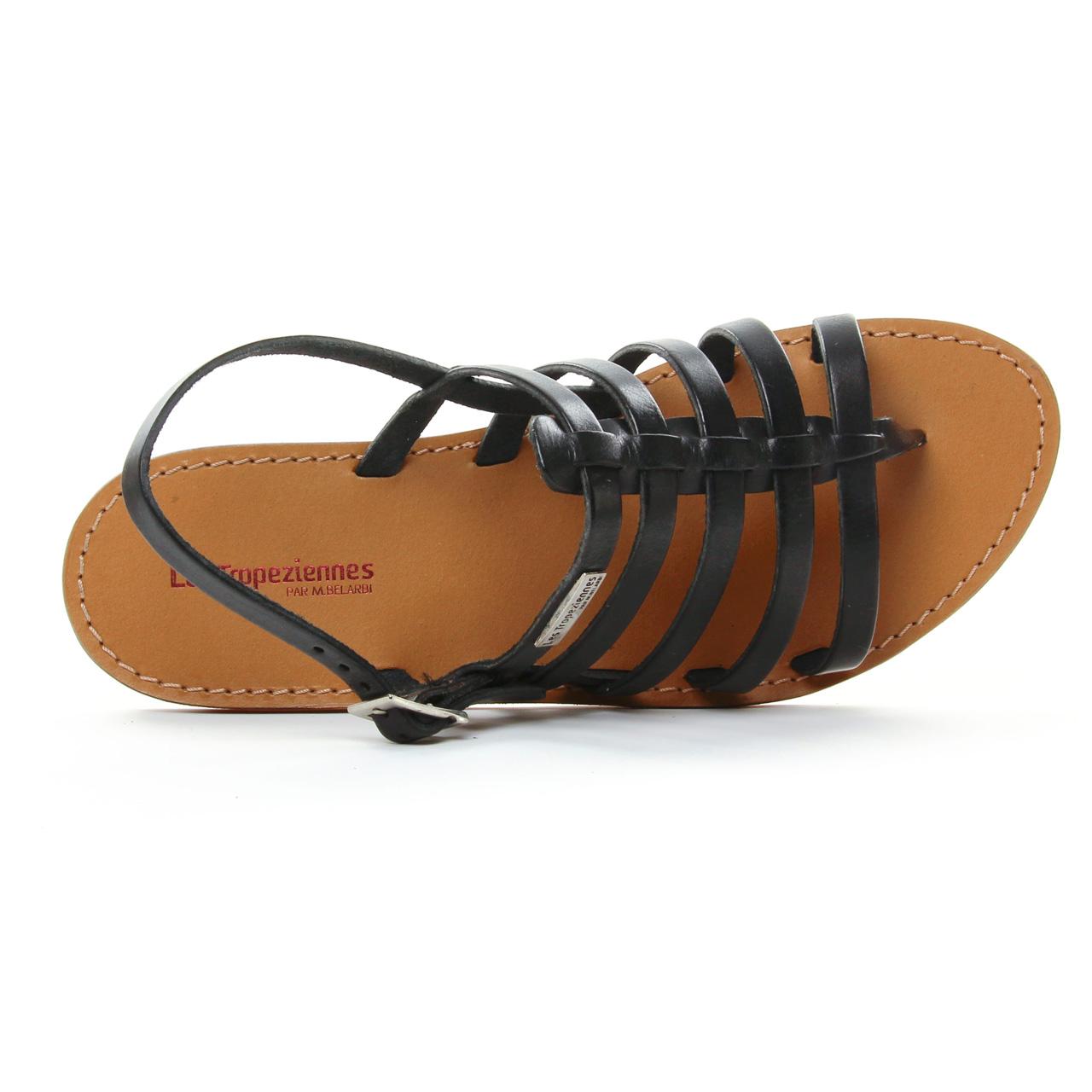 Les Tropeziennes Herilo Noir | sandales noir printemps été