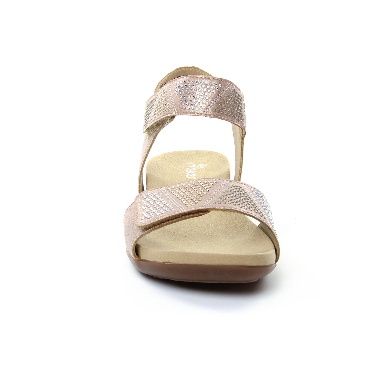 Rieker K2269 Rose | sandales rose printemps été chez TROIS PAR 3