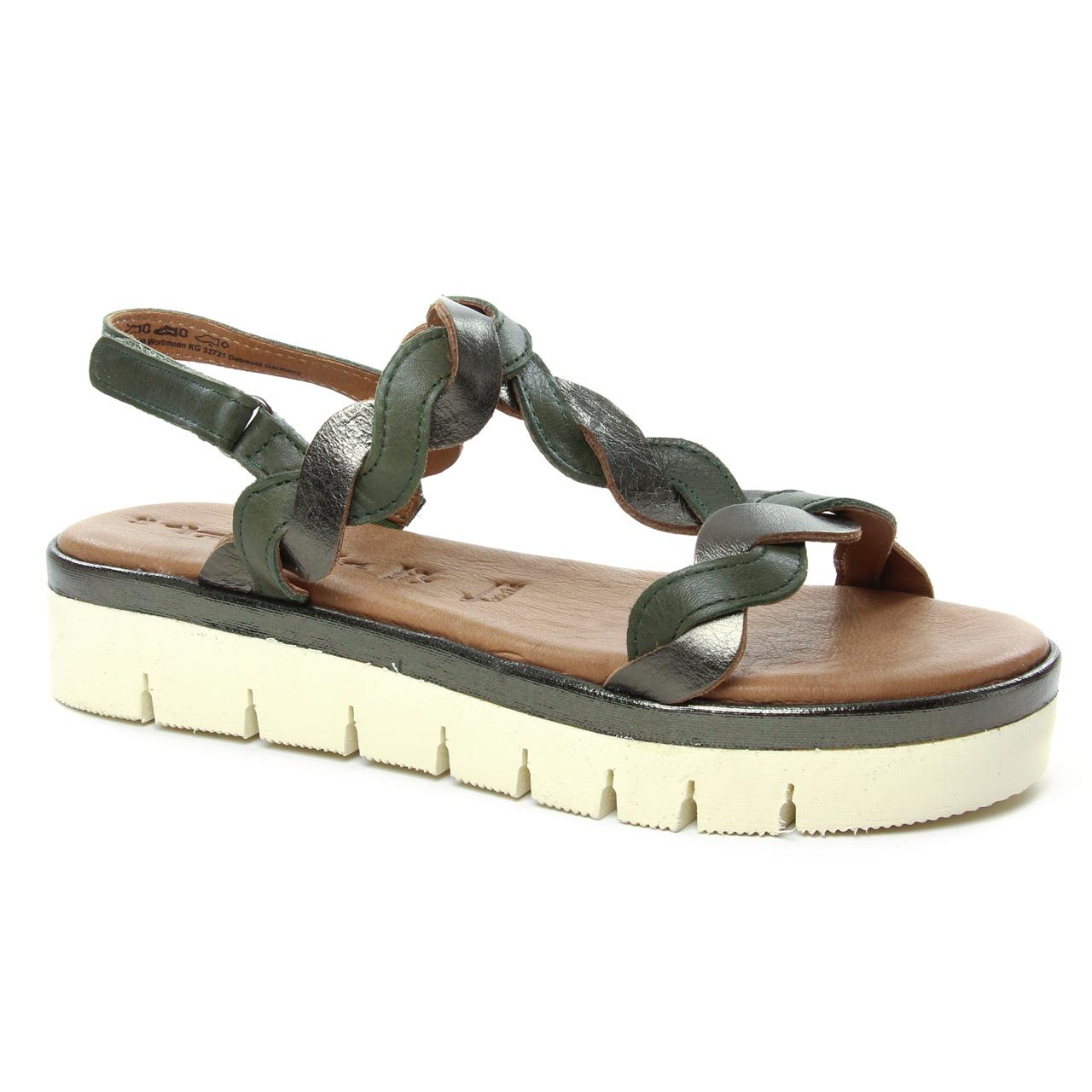 Tamaris 28716 Olive | sandales vert printemps été chez TROIS
