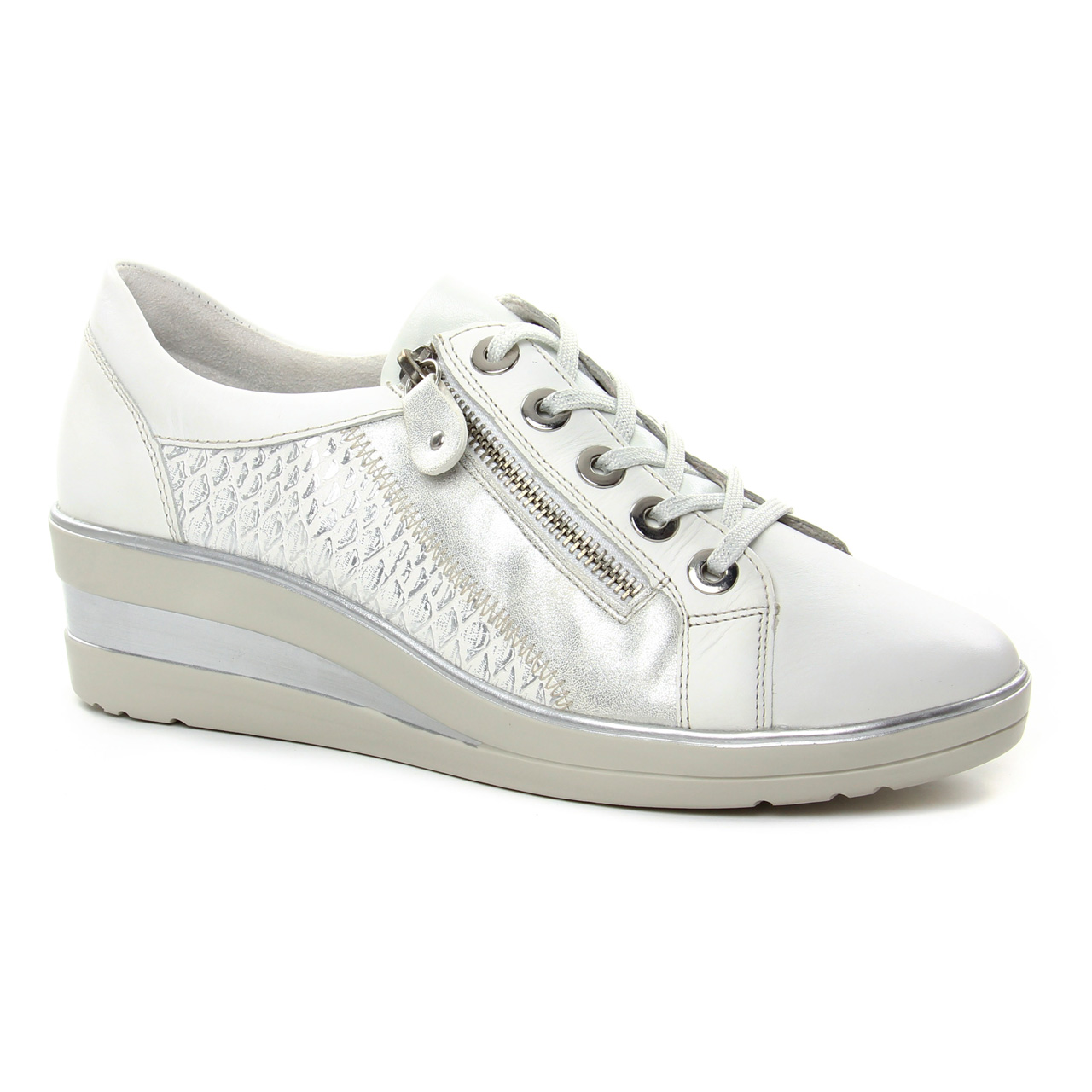 Chaussures Remonte Femme R7ayf affutage Blanches Nut 11qdwrP