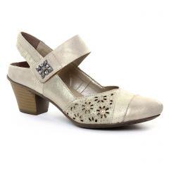 babies-brides beige doré: même style de chaussures en ligne pour femmes que les Rieker