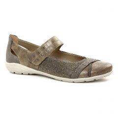 Chaussures femme été 2018 - babies Remonte bronze doré