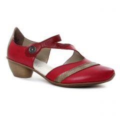 babies-talon rouge bronze: même style de chaussures en ligne pour femmes que les Rieker