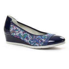 ballerines-talons-compenses bleu marine: même style de chaussures en ligne pour femmes que les Tamaris