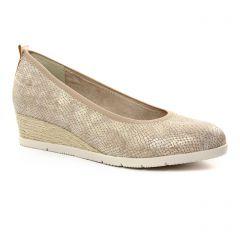 ballerines-talons-compenses marron doré: même style de chaussures en ligne pour femmes que les Rieker