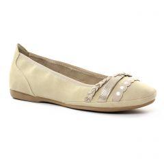 ballerines-confort beige doré: même style de chaussures en ligne pour femmes que les Fugitive