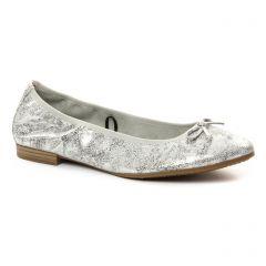 Chaussures femme été 2018 - ballerines confort tamaris blanc gris argent