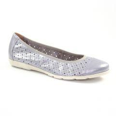 Chaussures femme été 2018 - ballerines confort Caprice gris argent