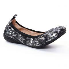 ballerines-confort noir argent: même style de chaussures en ligne pour femmes que les Fugitive