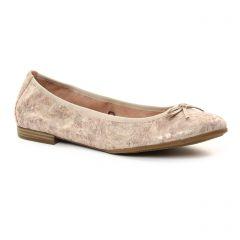 Chaussures femme été 2018 - ballerines confort tamaris rose doré