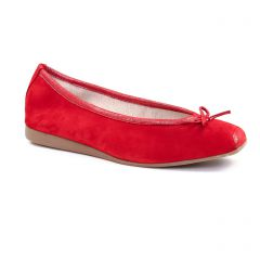 ballerines rouge doré: même style de chaussures en ligne pour femmes que les Scarlatine