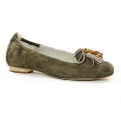 Dorking D7443 Kaki : chaussures dans la même tendance femme (ballerines vert) et disponibles à la vente en ligne