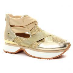 Chaussures femme été 2018 - baskets mode Gioseppo beige doré