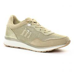 baskets-mode beige doré: même style de chaussures en ligne pour femmes que les Mtng
