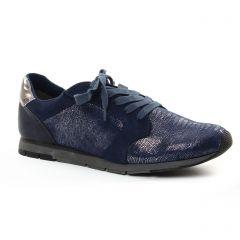 baskets-mode bleu doré: même style de chaussures en ligne pour femmes que les Tamaris