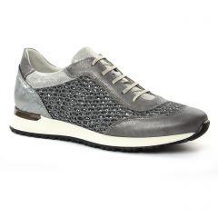 baskets-mode gris argent: même style de chaussures en ligne pour femmes que les Geox