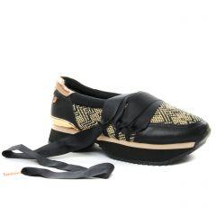 baskets-mode noir rose doré: même style de chaussures en ligne pour femmes que les Gioseppo