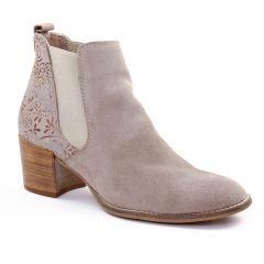 boots-chelsea beige beige rosé: même style de chaussures en ligne pour femmes que les Scarlatine