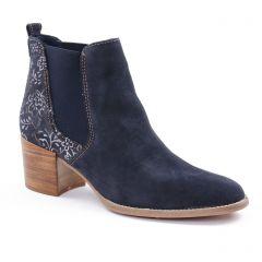 Chaussures femme été 2018 - boots élastiquées tamaris bleu argent