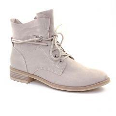 Chaussures femme été 2018 - bottines à lacets marco tozzi beige