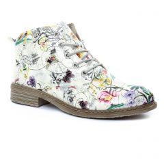 Chaussures femme été 2018 - bottines à lacets rieker multicolore
