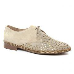 Pintodiblu 20471 Ecru : chaussures dans la même tendance femme (derbys beige doré) et disponibles à la vente en ligne