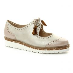 derbys beige doré: même style de chaussures en ligne pour femmes que les Tamaris