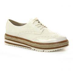 derbys blanc doré: même style de chaussures en ligne pour femmes que les Tamaris