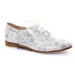 derbys blanc gris argent: même style de chaussures en ligne pour femmes que les Fugitive