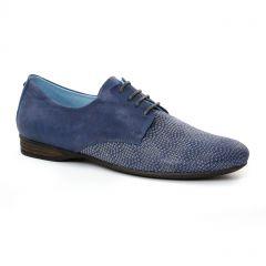 derbys bleu blanc argent: même style de chaussures en ligne pour femmes que les Dorking