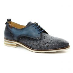 Chaussures femme été 2018 - derbys Pikolinos bleu marine