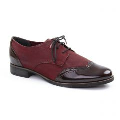 derbys bordeaux: même style de chaussures en ligne pour femmes que les Tamaris