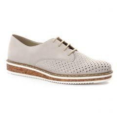 derbys-talons-compenses beige argent: même style de chaussures en ligne pour femmes que les Marco Tozzi