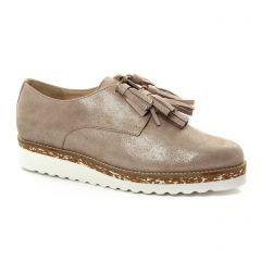 derbys-talons-compenses beige doré: même style de chaussures en ligne pour femmes que les Pintodiblu