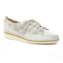 derbys-talons-compenses blanc argent: même style de chaussures en ligne pour femmes que les Fugitive