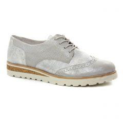 derbys-talons-compenses blanc argent: même style de chaussures en ligne pour femmes que les Bugatti
