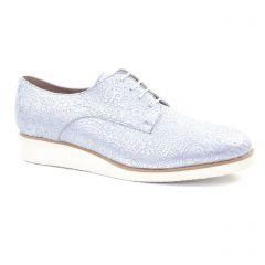 derbys-talons-compenses blanc argent: même style de chaussures en ligne pour femmes que les Scarlatine
