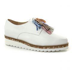 derbys-talons-compenses blanc: même style de chaussures en ligne pour femmes que les Pintodiblu