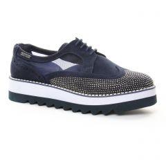 derbys-talons-compenses bleu marine: même style de chaussures en ligne pour femmes que les Marco Tozzi