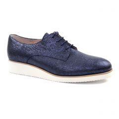 derbys-talons-compenses bleu marine: même style de chaussures en ligne pour femmes que les Mamzelle