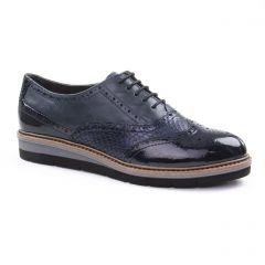 derbys-talons-compenses bleu marine: même style de chaussures en ligne pour femmes que les Scarlatine
