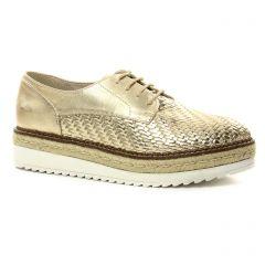derbys-talons-compenses doré: même style de chaussures en ligne pour femmes que les Marco Tozzi